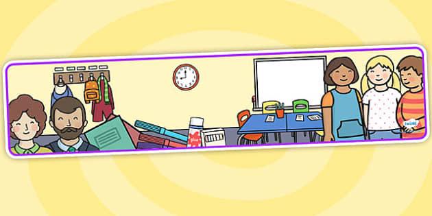 Editable Banner School - editable, editable banner, school, display, banner, display banner, display header, themed banner, editable header, header