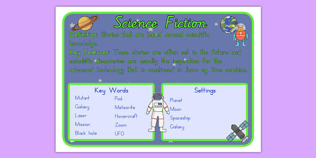 Story Genres Science Fiction Display Poster - stories, books