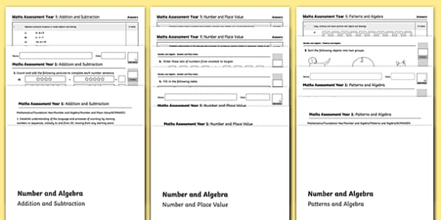 Kindergarten Number and Algebra Assessment Pack - australia, kindergarten, number, algebra, assessment