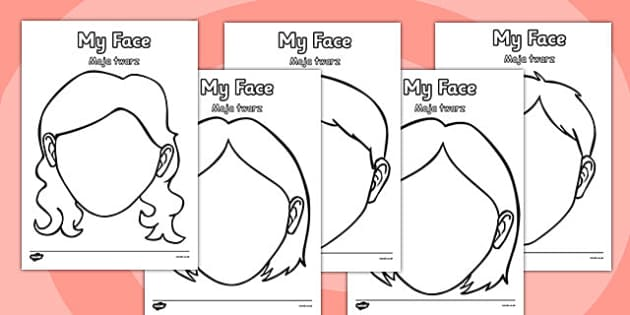 Blank Face Templates with Face Features Polish Translation - polish