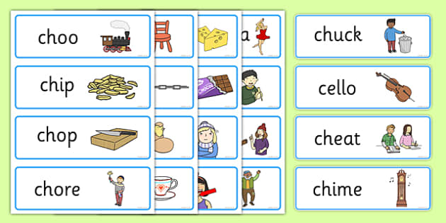 ch Sound Word Cards - ch sound, ch, word cards, sounds, cards