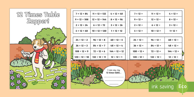 12 Times Table with Division Zapper
