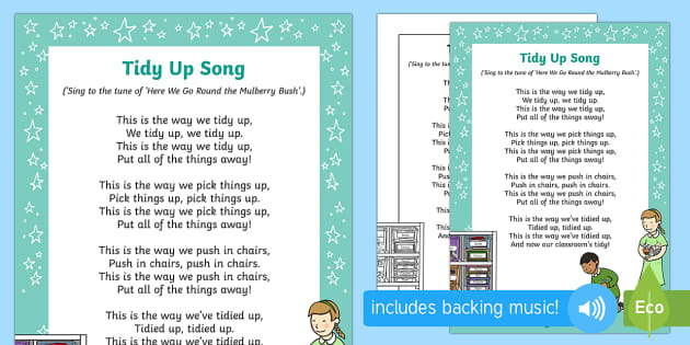 Tidy Up Time Song