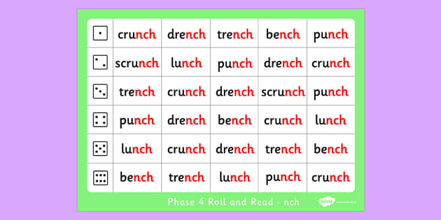 Phase 4 Final Blends Roll and Read Mat nch - phase 4, roll, read