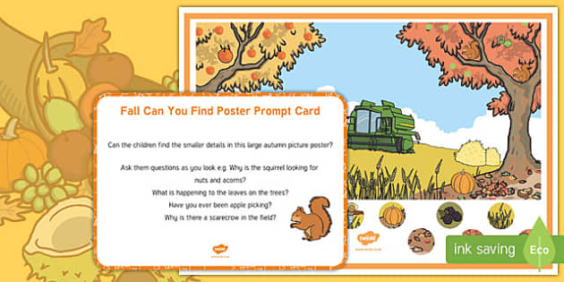 Fall Can you Find...? Poster and Prompt Card Pack