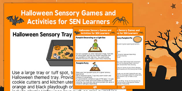 Halloween Sensory Games and Activities for SEN Learners - halloween, sensory games, activities