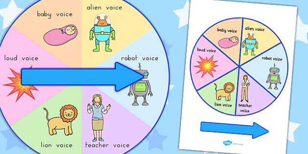 Silly Voices Spinner - australia, silly voices, spinner, silly, voices