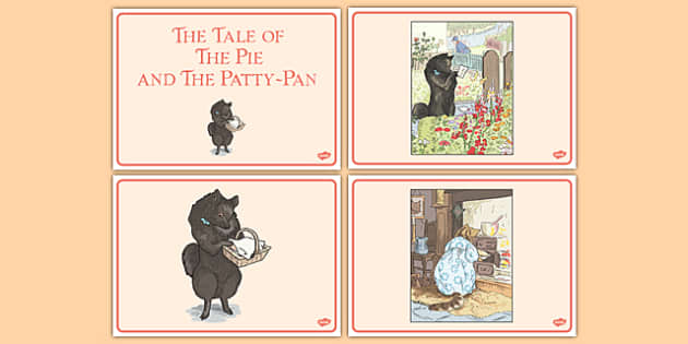 Beatrix Potter - The Tale of the Pie and the Patty-Pan Short Story Sequencing - beatrix potter, pie, patty pan, short story, sequencing