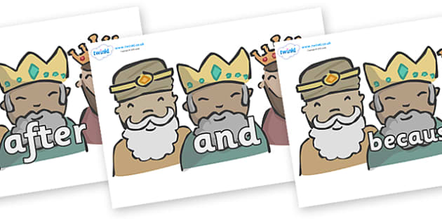 Connectives on Three Kings - Connectives, VCOP, connective resources, connectives display words, connective displays