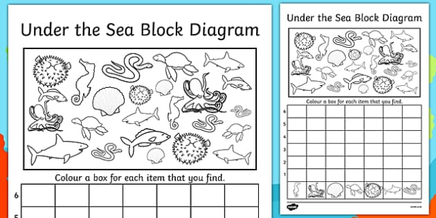 Under the Sea Bar Graph Activity Sheet - under the sea, bar graph, activity, worksheet