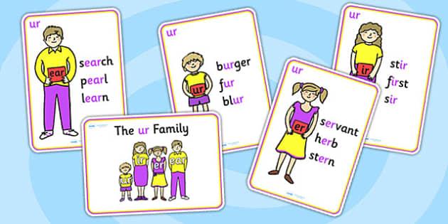 ur Sound Family Member Posters-ur, ur sound, sound families, ur sound family, sound posters, ur sound poster, poster, sounds, letters, words, literacy