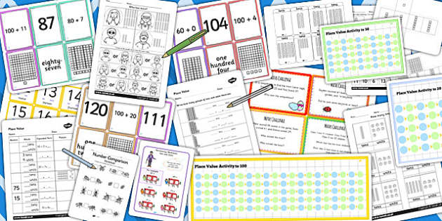 Year 2 Place Value Resource Pack - place value, pack, resources