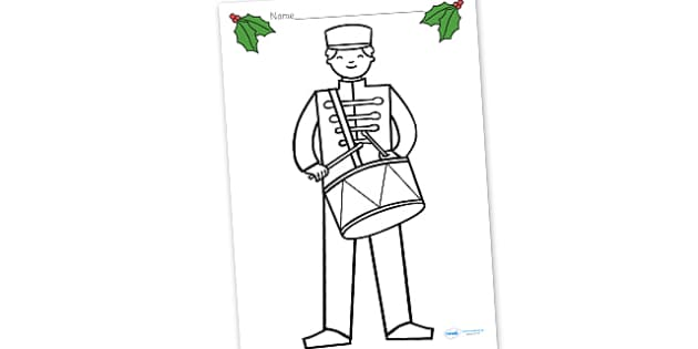 Toy Soldier Drummer Colouring Sheet - colouring, sheets, fine motor skills, toy soldier, soldier, soldier colouring sheets, toy soldier drummer, dummer colouring sheet, poster, worksheet, display, fun, activity, art, craft
