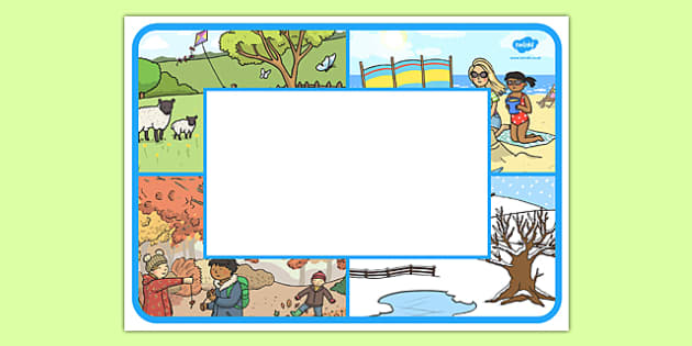Seasons Themed Editable Class Welcome Signs - seasons, weather and seasons, seasons welcome signs, seasons classroom signs, seasons signs, welcome sign