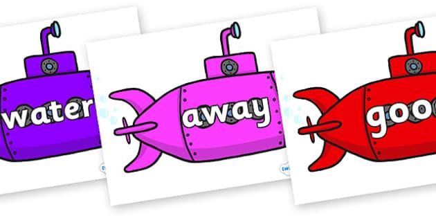 Next 200 Common Words on Submarines - Next 200 Common Words on  - DfES Letters and Sounds, Letters and Sounds, Letters and sounds words, Common words, 200 common words