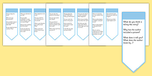 Guided Reading Curriculum Questions Bookmarks Year 1 - guided reading, curriculum, questions, bookmarks, year 1