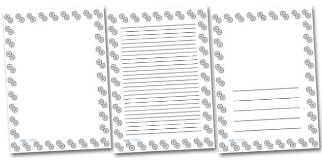 CDs Portrait Page Borders- Portrait Page Borders - Page border, border, writing template, writing aid, writing frame, a4 border, template, templates, landscape