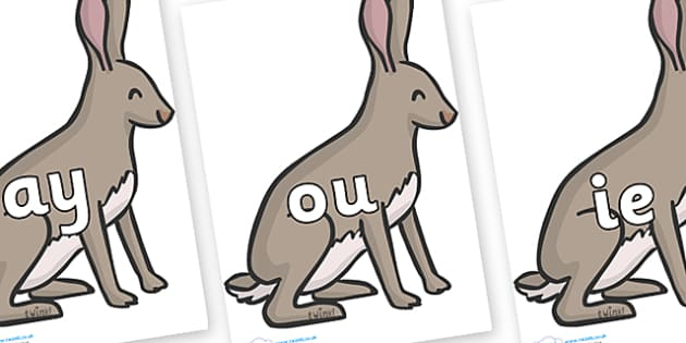 Phase 5 Phonemes on Hares - Phonemes, phoneme, Phase 5, Phase five, Foundation, Literacy, Letters and Sounds, DfES, display