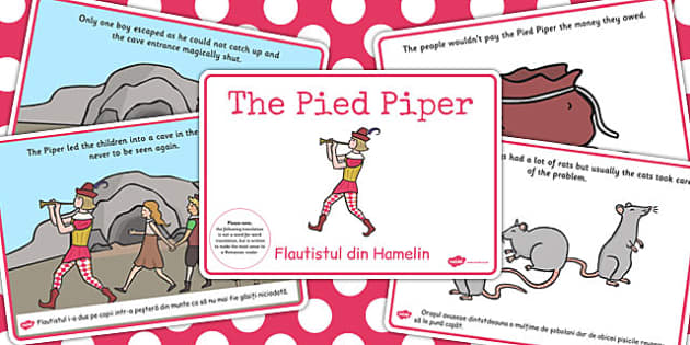 The Pied Piper Story EAL Romanian Translation Version - stories