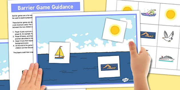Sea Barrier Game - sea, barrier, game, activity, class, board