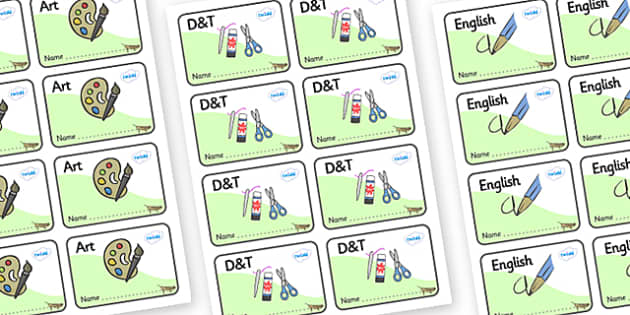 Grasshopper Themed Editable Book Labels - Themed Book label, label, subject labels, exercise book, workbook labels, textbook labels