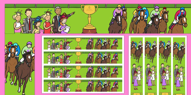 Melbourne Cup Display Border - australia, melbourne cup, horse racing