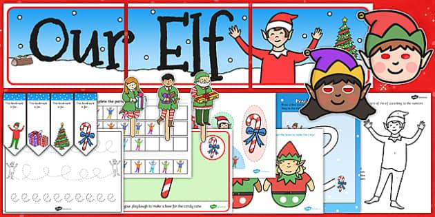 Childminder Christmas Elf Resource Pack - childminder, christmas elf, resource, pack