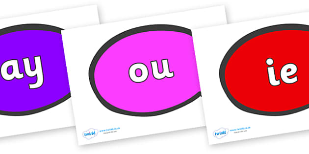 Phase 5 Phonemes on Speech Bubble - Phonemes, phoneme, Phase 5, Phase five, Foundation, Literacy, Letters and Sounds, DfES, display