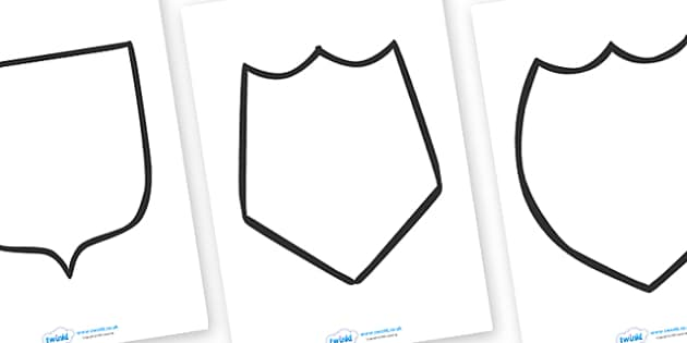 Medieval Castle Role Play Colouring Coat of Arms - Medieval castle, castle, castles and knights, coat of arms, colouring, fine motor skills, history, role play, turret, moat, drawbridge, maiden, knight