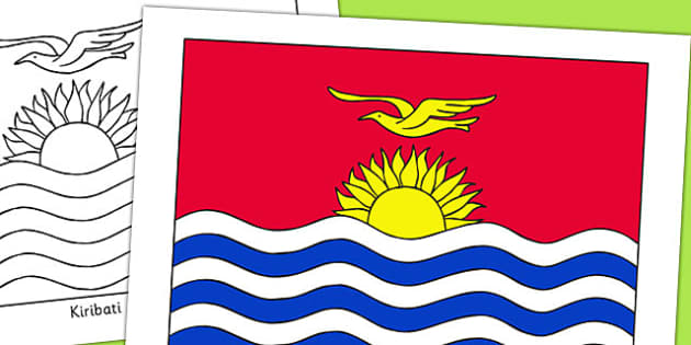 Kiribati Flag Display Poster - countries, geography, display