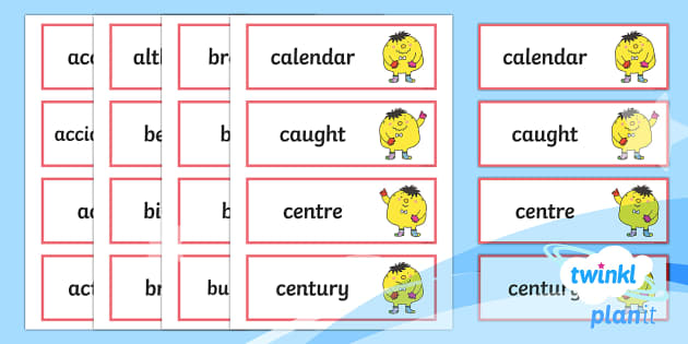 PlanIt English Additional Resources Y3/Y4 Statutory Spelling Word Cards - Spellings Year 3, Y3, Year 4, Y4, statutory spelling, cards, SPaG, GPS, appendix 1