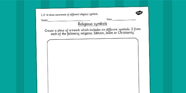 Religious Symbols and Beliefs Artwork Designing Activity - RE