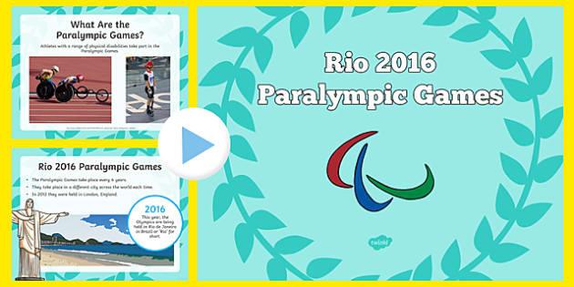 Rio Paralympics 2016 SEN Information PowerPoint