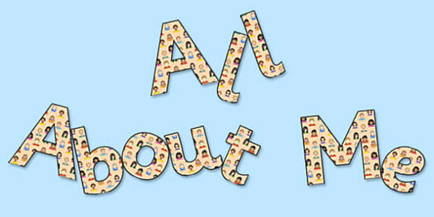All About Me' Display Lettering - all about me, all about me lettering, all about me display, all about me display words, all about me cut out letters