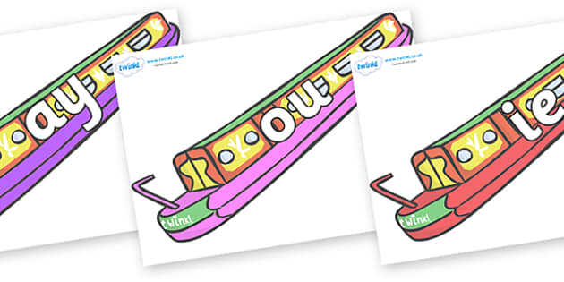 Phase 5 Phonemes on Narrow Boats - Phonemes, phoneme, Phase 5, Phase five, Foundation, Literacy, Letters and Sounds, DfES, display