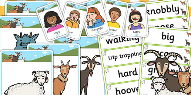 The Three Billy Goats Gruff Mind Map Starter Resource Pack - goat
