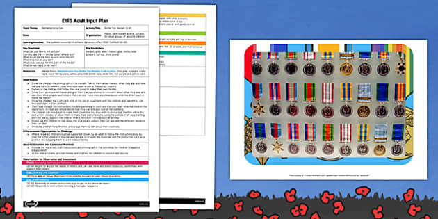 Bottle Top Medals EYFS Adult Input Plan and Craft Pack - bottle top, medals, eyfs, craft