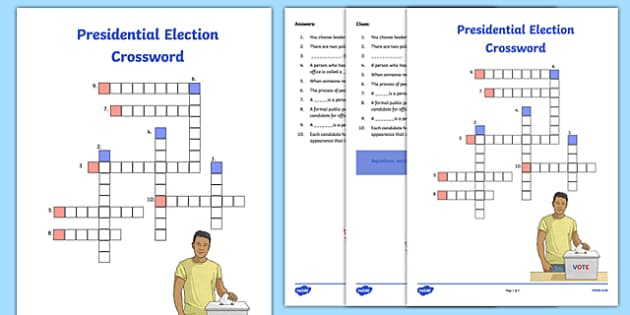 Presidential Election Crossword