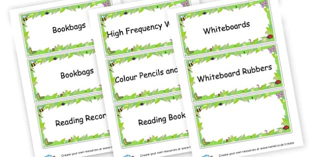 school - Resource Labels Primary Resources, resource, label, drawer labels