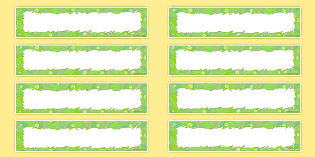 Editable Leaf Themed Gratnells Tray Labels - editable, leaf, gratnells, tray labels, stickers, labels