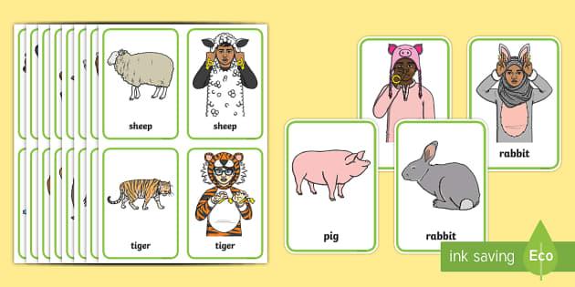 BSL Animal Flashcards - BSL Resources, British Sign Language, signing