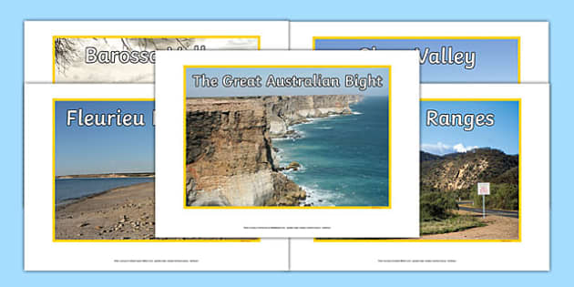 South Australia Natural Features Photo Pack - australia, rivers, lakes, mountains, natural, tourist attraction, landscape, landmark