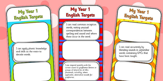2014 Curriculum Year 1 English Assessment Bookmarks and Cut Outs