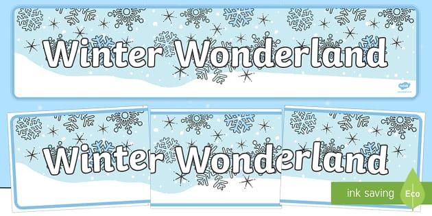 Winter Wonderland Icy Display Banner
