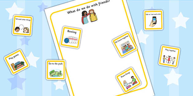 What Do We Do With Friends Cut And Stick Activity - friendship