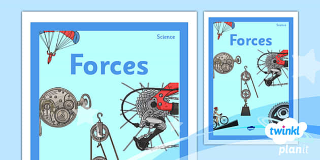 PlanIt - Science Year 5 - Forces Unit Book Cover - planit, science, year 5, book cover, unit, book, cover, forces