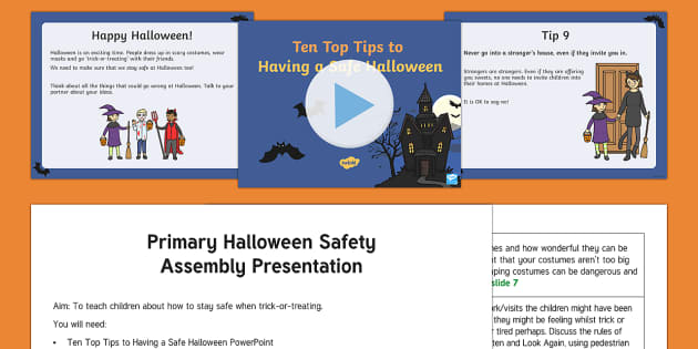 Halloween Safety Assembly Pack