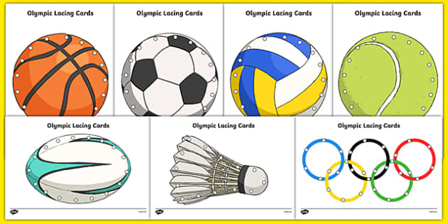 Olympic Sports Lacing Cards
