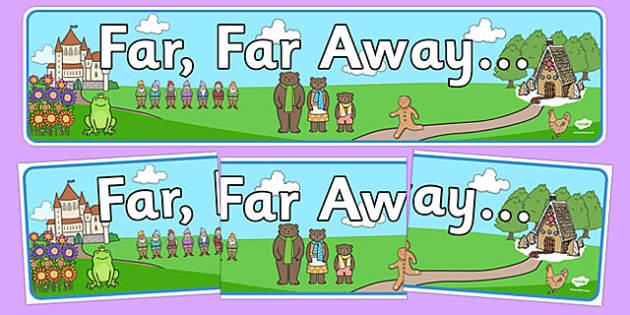 Far Far Away Display Banner - far far away, display banner, display, banner, traditional tales