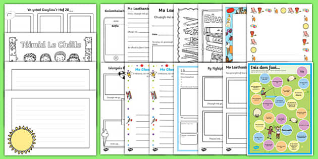 3rd and 4th Class First Day Back Activity Pack-Irish